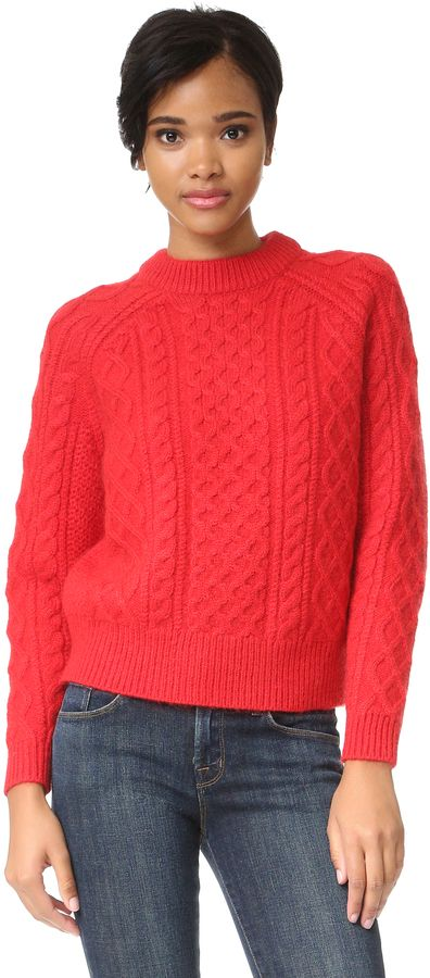 DEMYLEE Alice Sweater  A soft DEMYLEE cable sweater in a fine alpaca blend. Ribbed edges and long raglan sleeves.  affiliate link