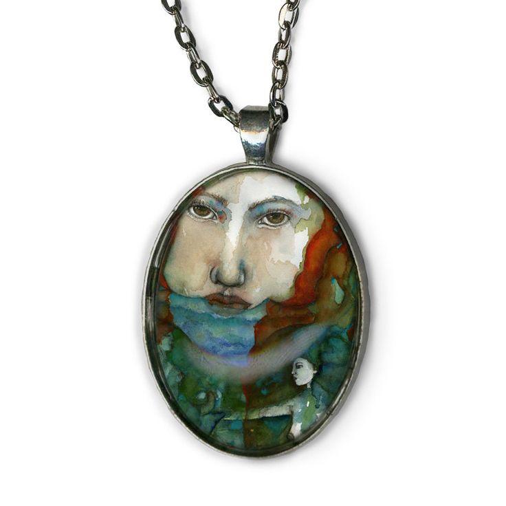 Greek Goddess - Statement Necklace - Psyche Goddess - Goddess Jewelry - girlfriend gift necklace - strong women - Boho Jewelry - Boho chic by OlivosARTstudio on Etsy