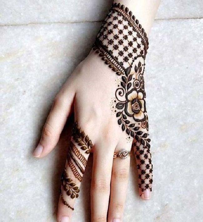 arabic mehndi designs for left hand back