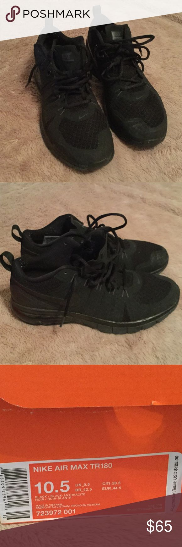 Nike Air Max TR180 10.5 Nike Air Max TR180 men's shoes. Worn twice on football turf. Nike Shoes Athletic Shoes