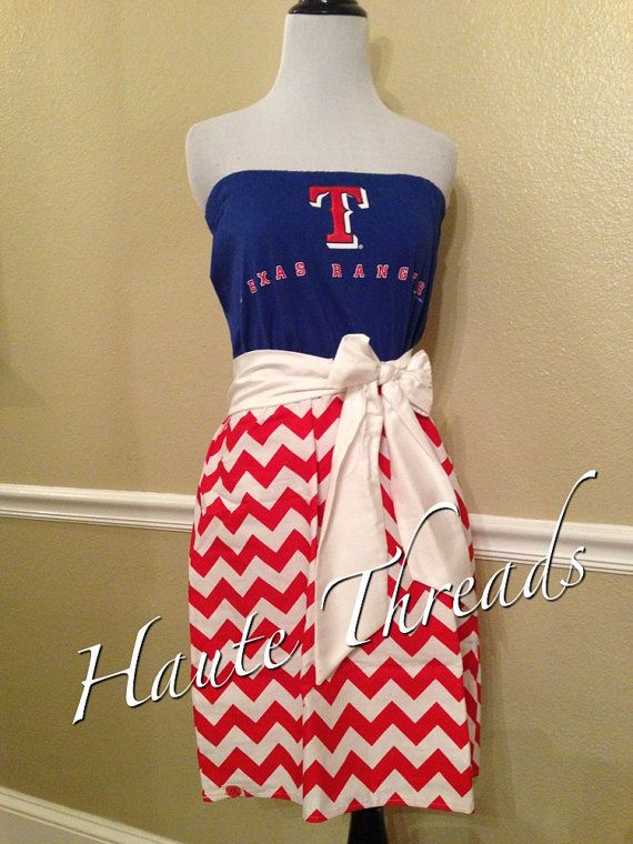 I make custom-made gameday dresses... every now & then Ill find a tee & convert it as a ready-to-sell item. This is an adorable