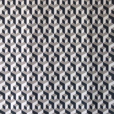 M :: Iván Meade - Cubo fabric in Marino/Paloma/Crema #ivanmeade #fabrics