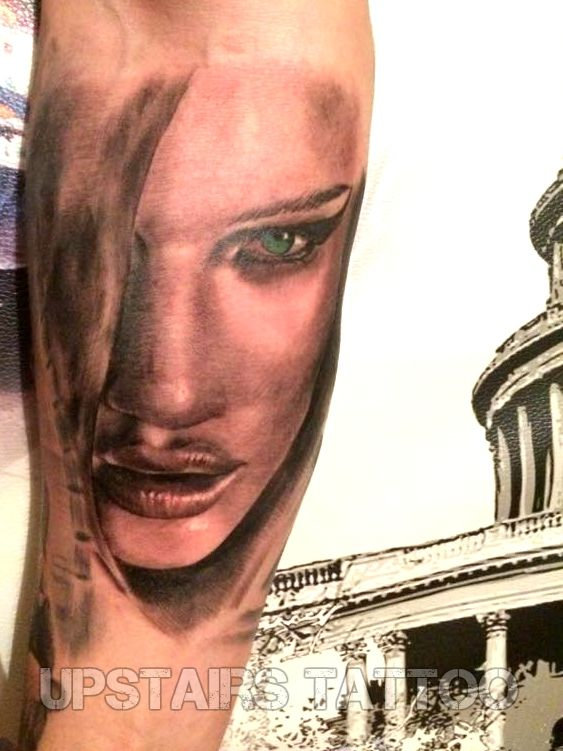 #tattoo #portrait #black&gray #realistic #face by Mihai Bizduianu