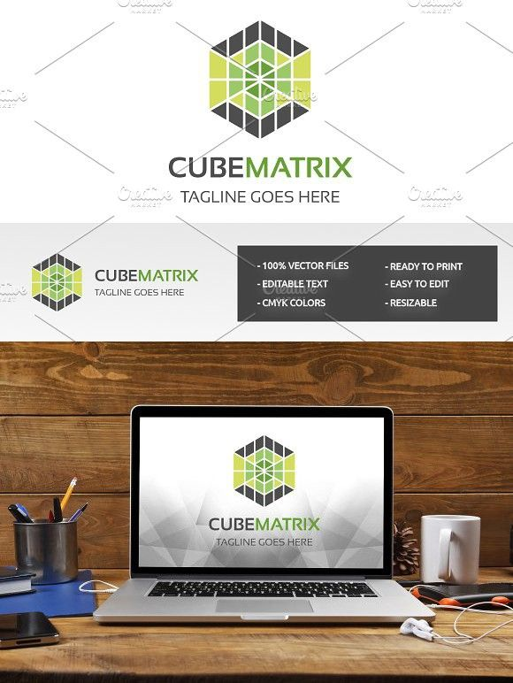Cube Matrix Logo #agency #cubelogo