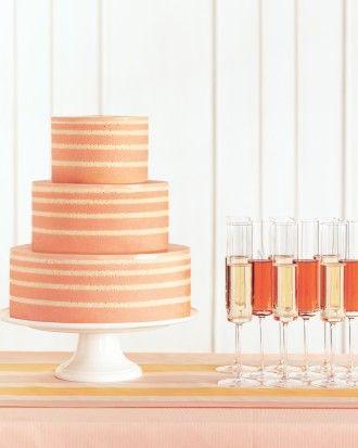 Tangerine Striped Layer Cake
