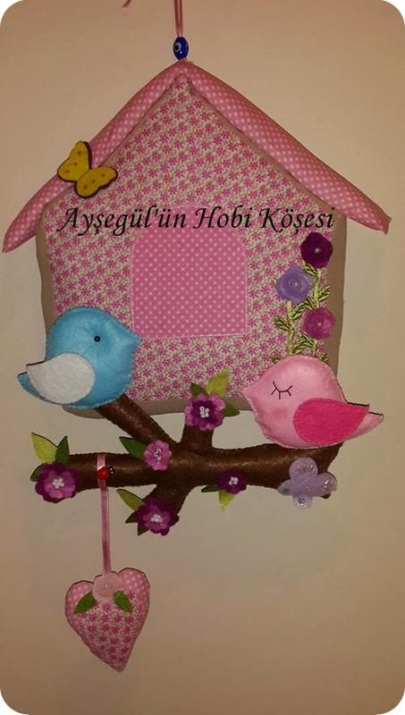 Kuş evi kapı süsü