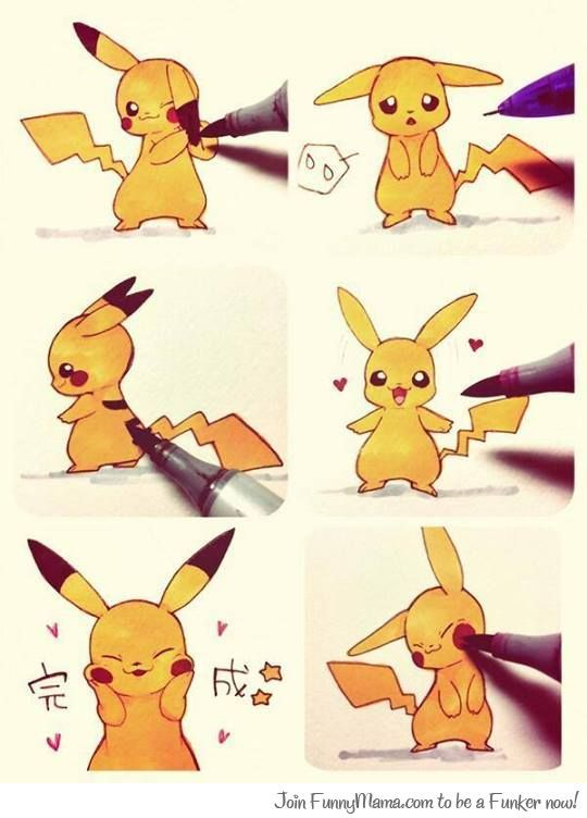 Drawing Pikachu