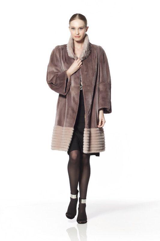 Multi Dyed Mink Fur Coat