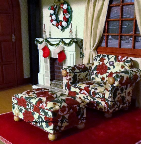 Overstuffed Chair and Ottoman Set for Barbie by insidemydollhouse, $45.00