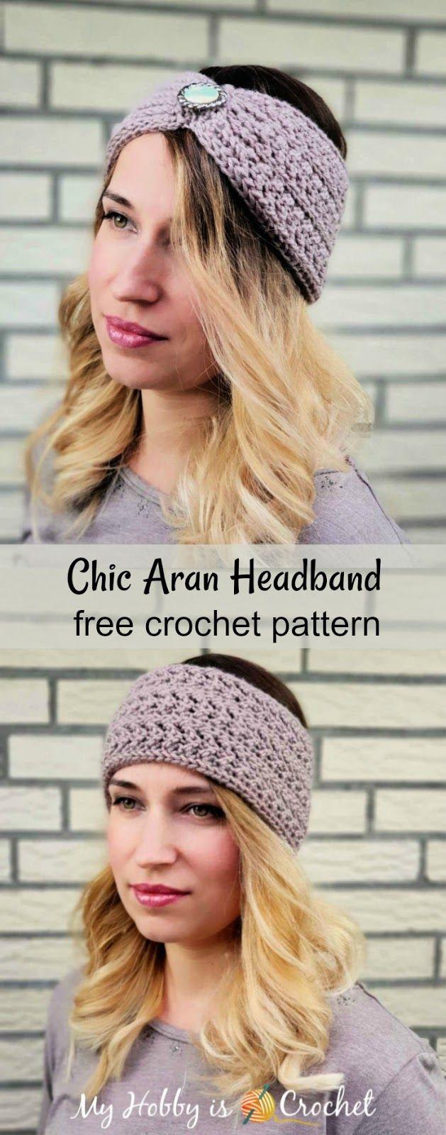 Chic Aran Headband  Earwarmer  Free Crochet Pattern  voulezvous