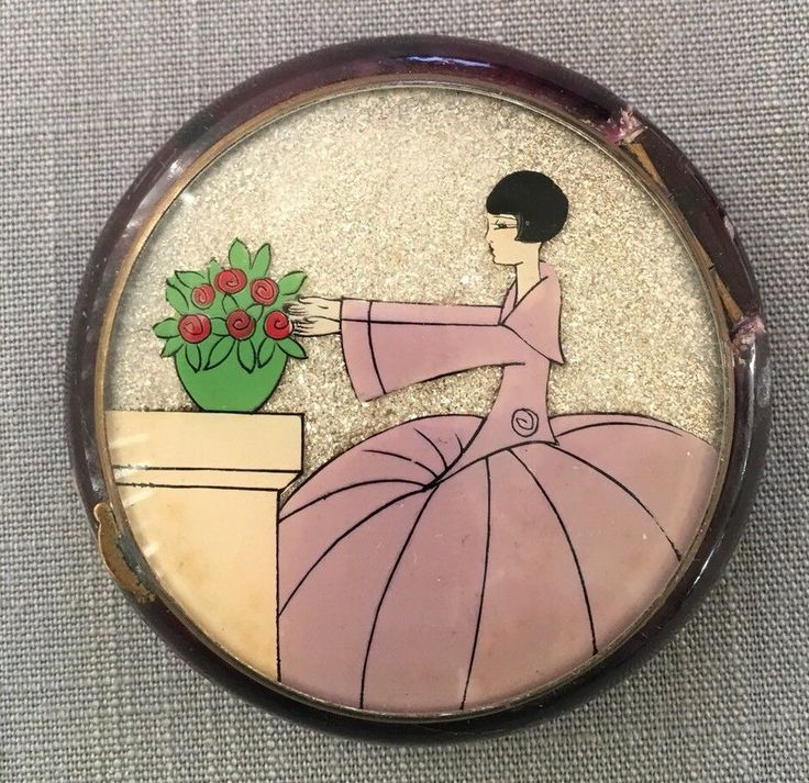 Vintage Art Deco Compact Plastic Bottom w/metal Top | Collectibles, Vanity, Perfume & Shaving, Compacts | eBay!