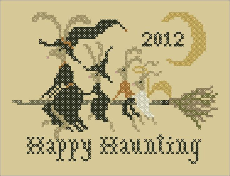 Hares' Happy Haunting ~ a free chart courtsey of Plum Street Samplers