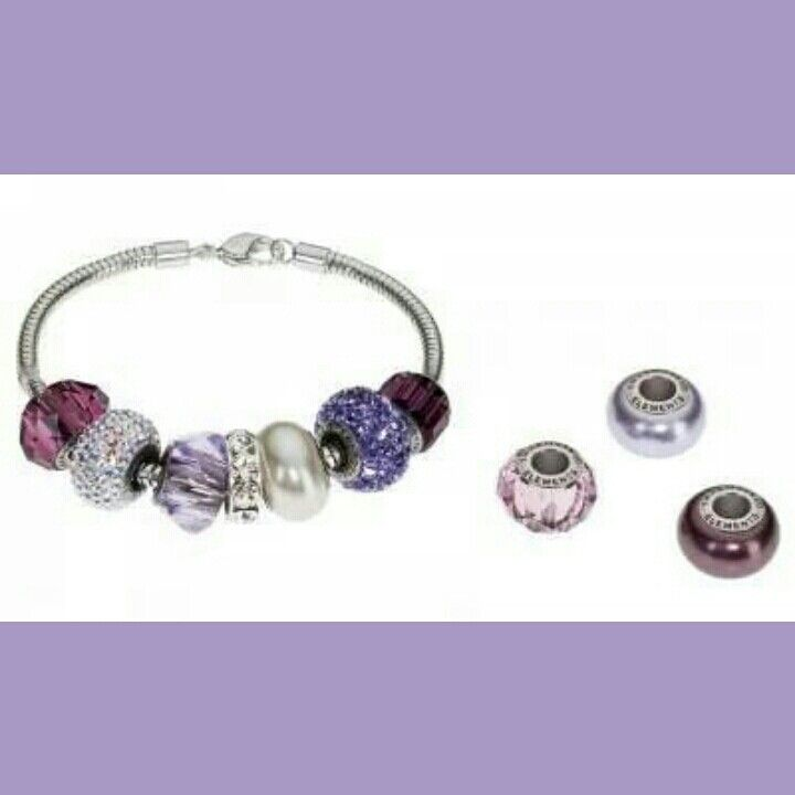 Swarovski #BeCharmed Lavender Bay Starter Set. Available at www.KaydeDesigns.com #beads #beadsters #beadsonthego #KaydeDesigns