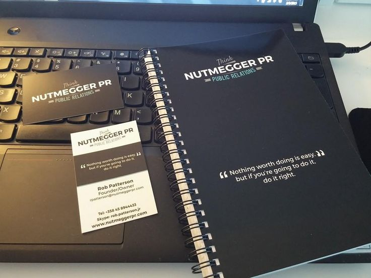 First order from Vistaprint brought us some sweet business cards and few notebooks!