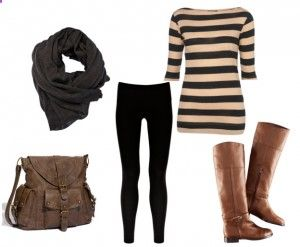black leggings outfite - option 1