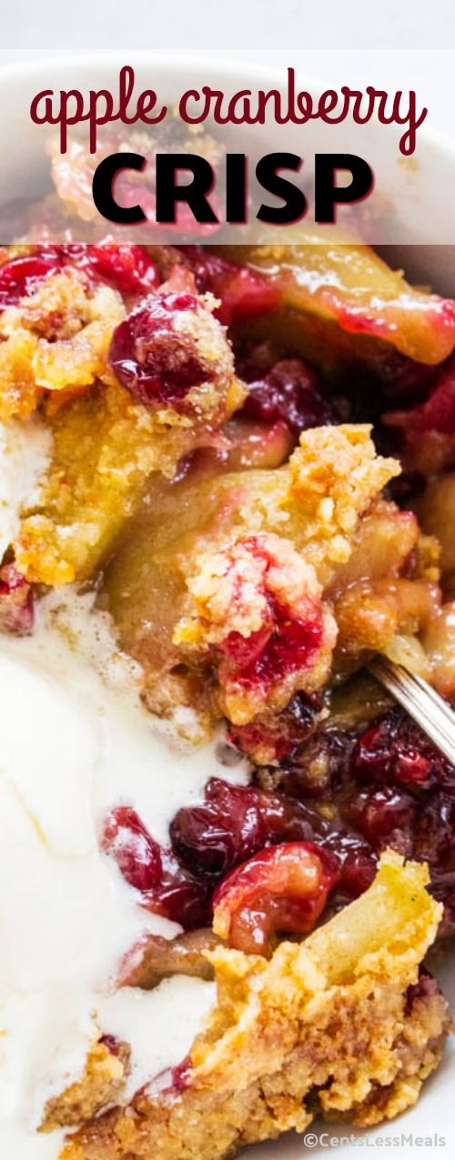 Made with apples, fresh cranberries and the most incredible streusel topping