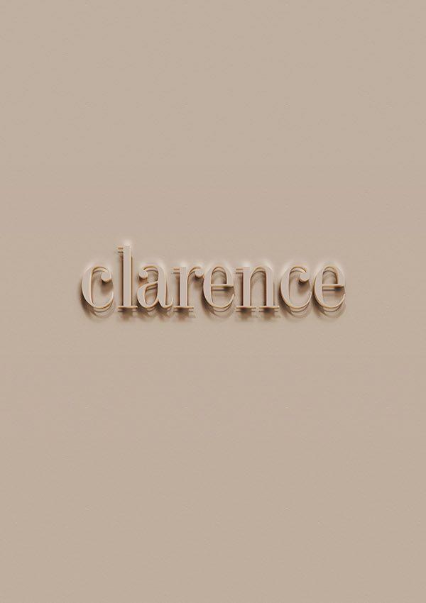 Clarence - logo design - brand identity on Behance