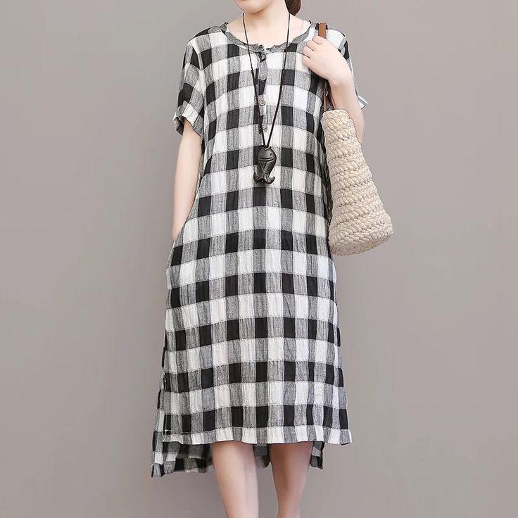 Black white women's dress
