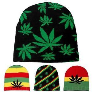 Marijuana-Leaf-Knit-Beanie-Skull-Cap-Winter-Ski-Snow-Toque-Tuque-Pot-Weed -Hemp 55939c05d6f4