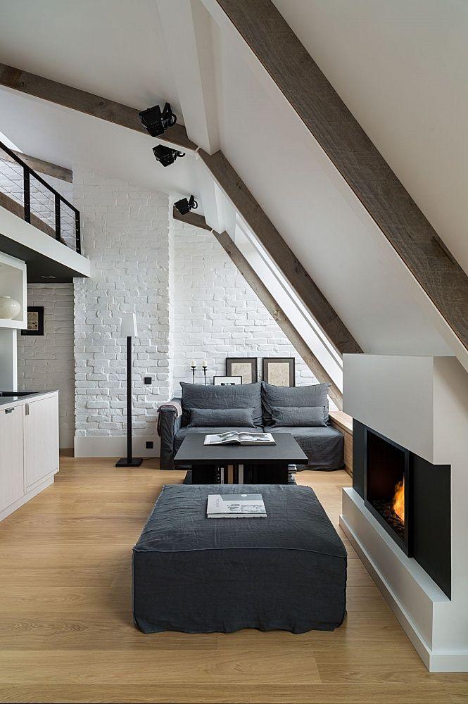 foorni.pl | Poddasze w stylu loftu, salon na poddaszu