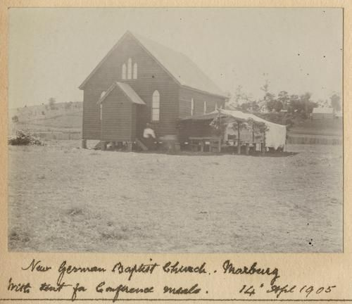 1905 New German Baptist Church at Marburg