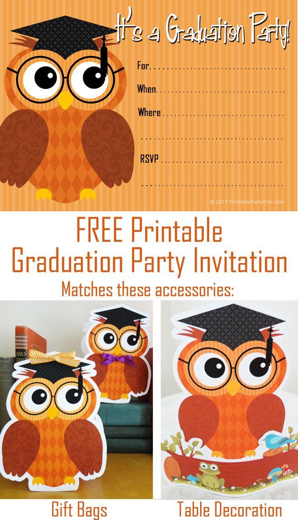 The 25 best Free printable graduation invitations ideas on Pinterest