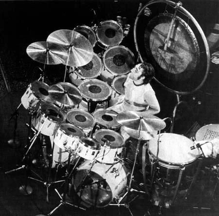 Kieth Moon, the drummer for The Who was known to put gunpowder in his drums. Description from longliverockmusic.com. I searched for this on bing.com/images