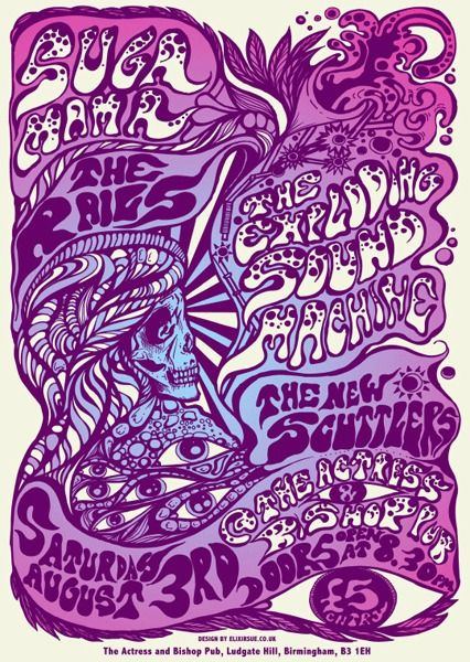 GigPosters.com - Suga Mama - Rails, The - Exploding Sound Machine, The - New Scuttlers, The