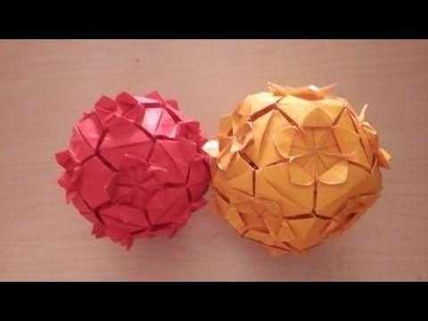 Origami - Kusudama - flowers - YouTube