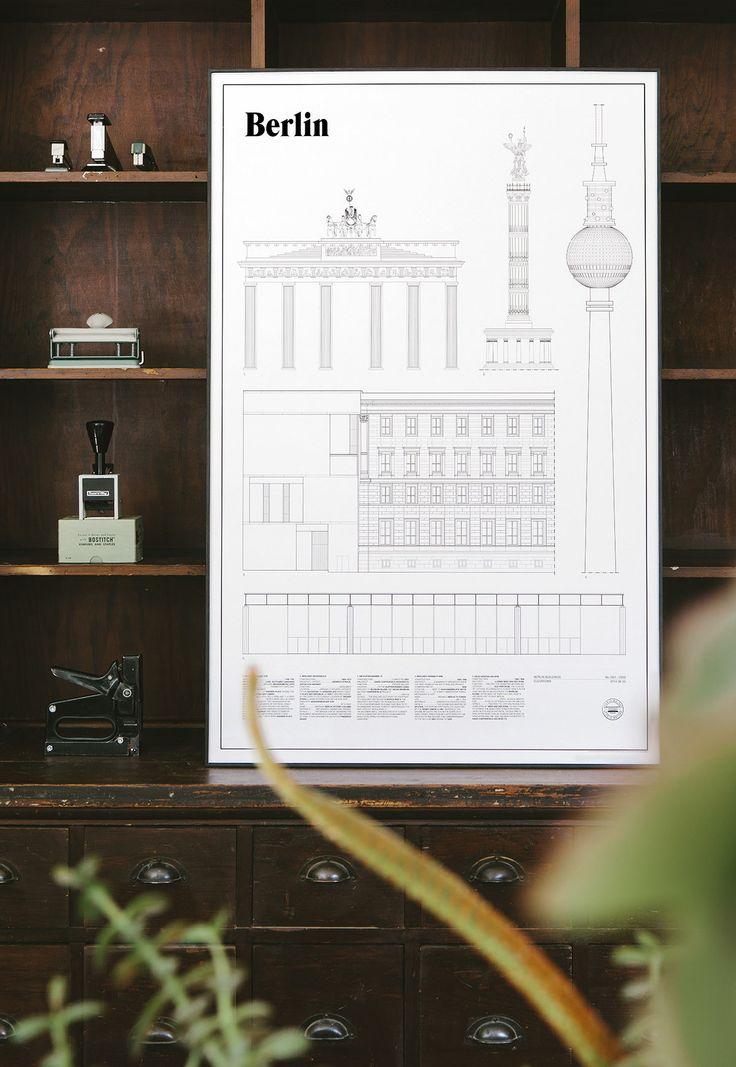 Berlin print by Studio Esinam #tambursthlm #print #stilleben #prints #berlin #berlinprint