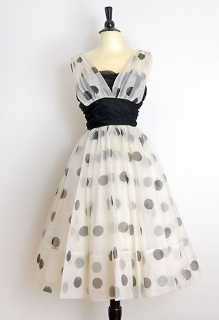 Vintage 1950's prom dress: 1950S Prom, Vintage 1950, Polka Dots, Vintage Prom Dresses, Parties Dresses, Prom Parties, 1950 S, The Dots, Vintage Style