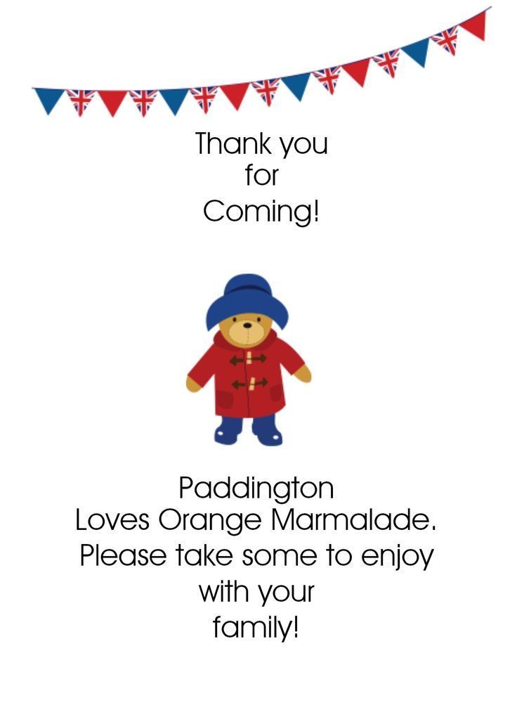 Paddington is always so grateful. Whether you say thanks with a note or with a post card, Paddington would certainly appreciate it. | Paddington