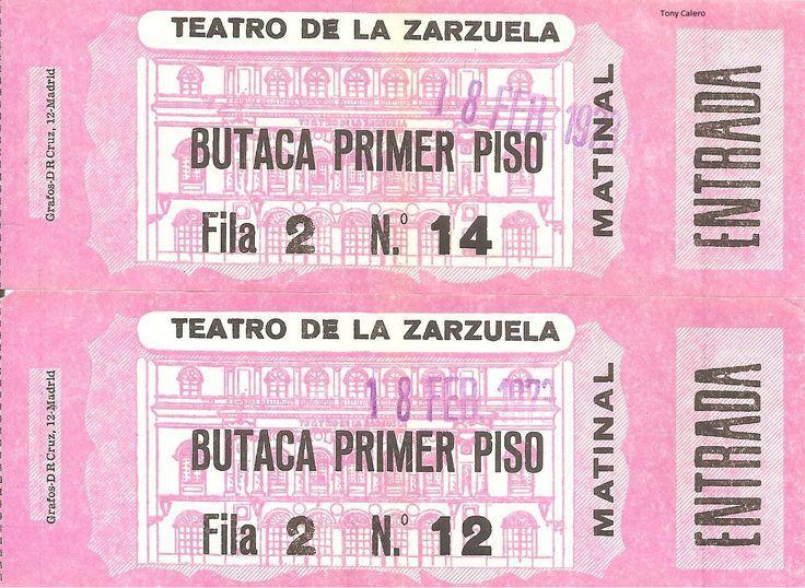 ENTRADAS TEATRO DE LA ZARZUELA - 1973