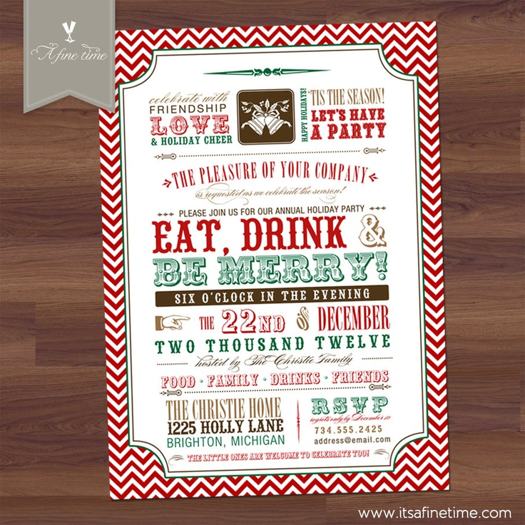 113 best Invitation Inspirations images on Pinterest | Christmas ...
