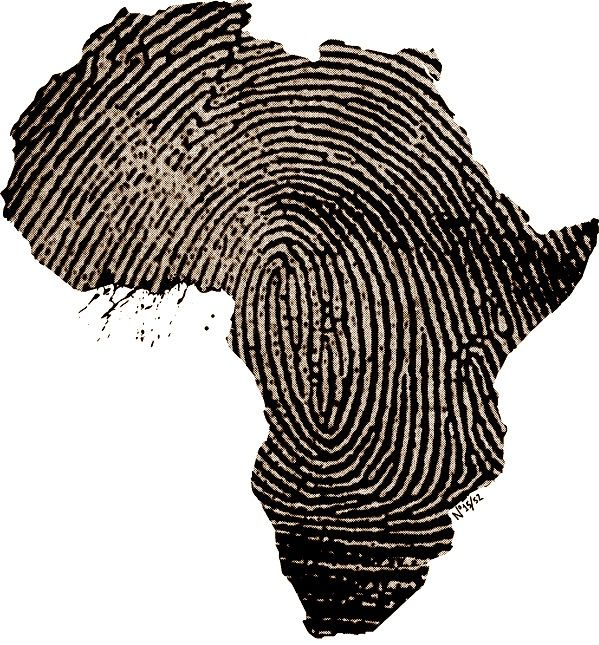 African fingerprint-this would be cool to have after a mission trip andthe country that has touched your heart