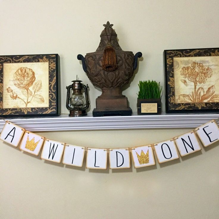 Wild One, Where the Wild Things Are First Birthday Banner, Sign, 1st, Baby Shower Decor by WeefersDesigns on Etsy https://www.etsy.com/listing/387540952/wild-one-where-the-wild-things-are-first