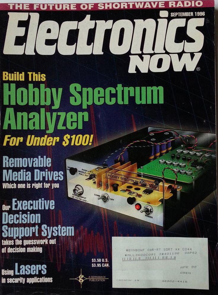 Electronics Now Magazine September 1996 Build this Hobby Spectrum Analyzer,Laser