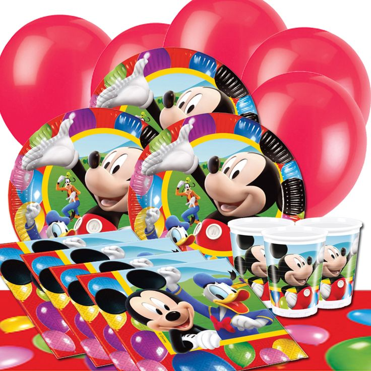 Mickey Mouse Party Time Party Supplies With The World