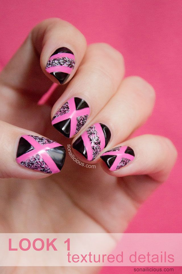 Pink nails with Fuzzy details. click through for nail art how to. #nails #pink