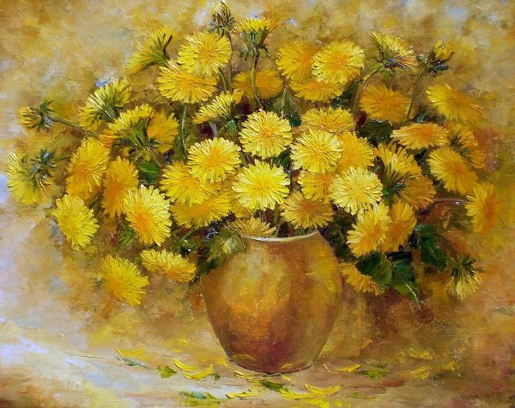 любимому желтые цветы в картинах художников сезон
