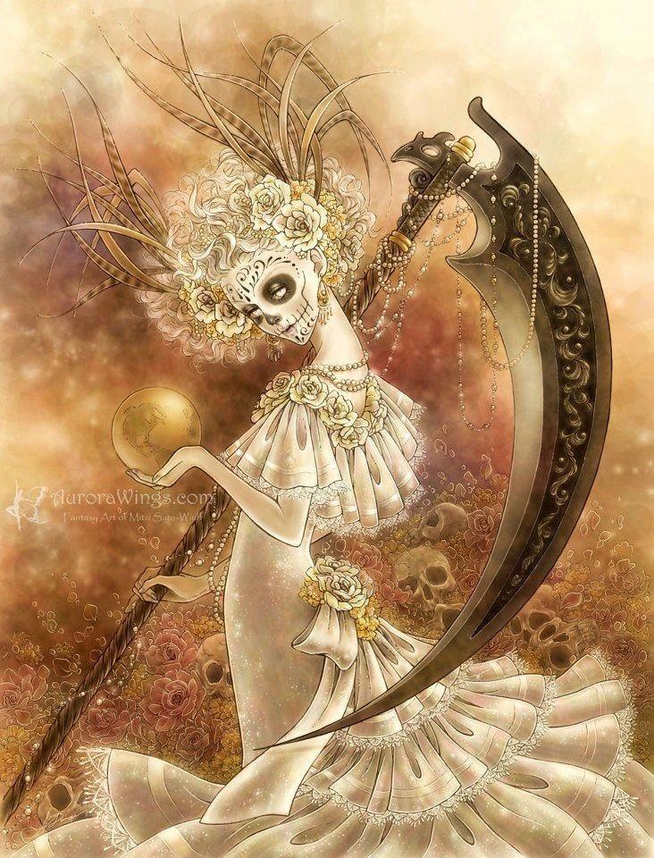"""""""Angel of Death""""  by Mitzi Sato-Wiuff #colored #pencil #art"""