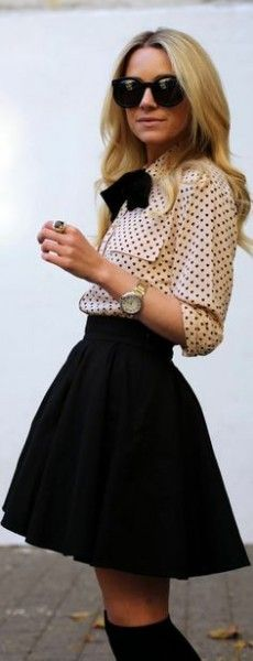 Black skater skirt - Fashion and Love