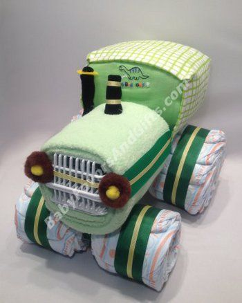 Tractor Diaper Cake <3 anyone having a boy soon? of course after all the boy babys