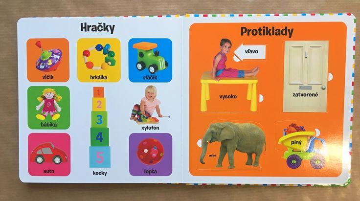 Ideálne prvé čítanie so základnou slovnou zásobou zo všetkých oblastí. Deň, zvieratá, protiklady, farby... všetko v pestrých aktivitách s odklápacími okienkami! #kniha #okienka#encyklopedie #deti