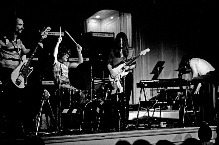 """The German rock band """"Can"""" performing in der Musikhalle Hamburg, 1972."""