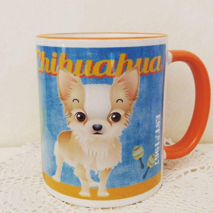 Chihuahua grafikás bögre.