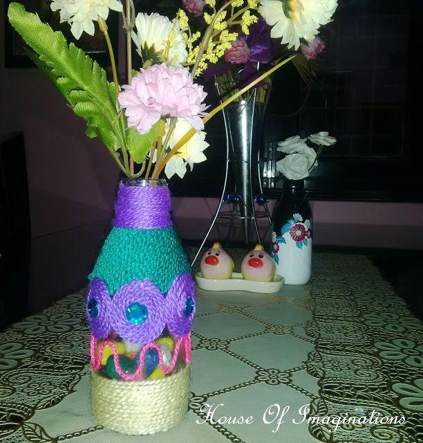 House Of Imaginations: wool worn vase