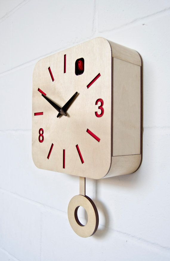 Hey, I found this really awesome Etsy listing at https://www.etsy.com/uk/listing/122531196/b83box-modern-cuckoo-clock-with-moving