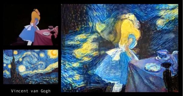 Trippy Video Shows Alice in Wonderland Remixed in the Styles of Famous Artists - Neatorama