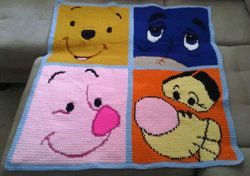 pooh friends faces crochet pattern